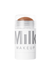 <p>The easiest way to look sculpted? The <span>Milk Makeup Matte Bronzer</span> ($30). This chunky stick glides across your skin and blends easily.</p>