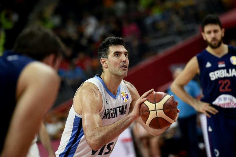 Argentina's Luis Scola (C) helped lead his team past heavily favoured Serbia in the Basketball World Cup quarter-finals