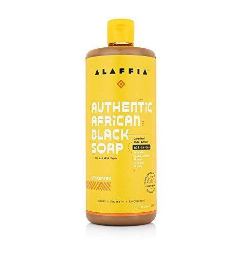 """<p><strong>Alaffia</strong></p><p>amazon.com</p><p><strong>$14.99</strong></p><p><a href=""""https://www.amazon.com/dp/B00BWCQMRK?tag=syn-yahoo-20&ascsubtag=%5Bartid%7C10055.g.33598763%5Bsrc%7Cyahoo-us"""" rel=""""nofollow noopener"""" target=""""_blank"""" data-ylk=""""slk:Shop Now"""" class=""""link rapid-noclick-resp"""">Shop Now</a></p><p>African Black soap is said to treat skin issues like acne and blackheads and can be used on your face and body. Alaffia is a <strong>green skin and haircare brand</strong> that makes beauty lotions and washes. One reviewer says, """"It's not harsh on my skin, it's the real deal."""" </p>"""