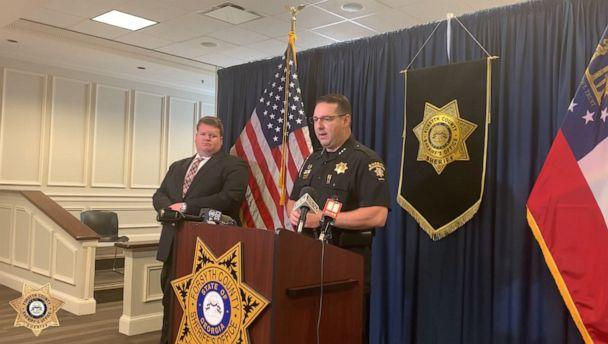 PHOTO: Sheriff Ron Freeman of the Forsyth County Sheriff's Office speaks at a press conference regarding an infant that was found in Georgia, June 7, 2019. (Forsyth County Sheriff's Office)