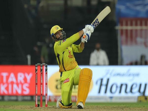 MS Dhoni in action against Rajasthan Royals (Photo/ IPL website)