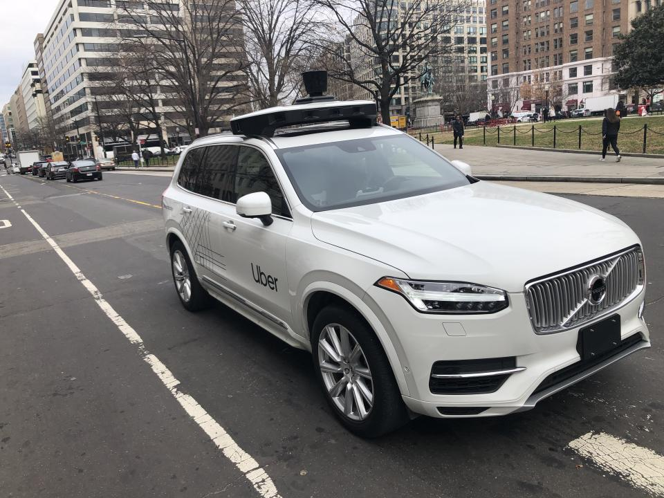 A driverless Uber car on the streets of Washington, DC, US. Photo: Eric Baradat/AFP via Getty Images