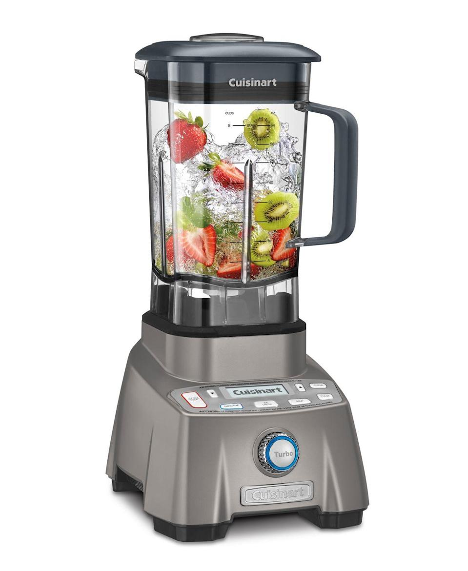 """<p><strong>Cuisinart</strong></p><p>macys.com</p><p><strong>$499.99</strong></p><p><a href=""""https://go.redirectingat.com?id=74968X1596630&url=https%3A%2F%2Fwww.macys.com%2Fshop%2Fproduct%2Fcuisinart-cbt-2000-hurricane-pro-3.5-peak-hp-blender%3FID%3D6583390&sref=https%3A%2F%2Fwww.delish.com%2Ffood-news%2Fg32852340%2Fmacys-kitchen-sale-june-2020%2F"""" rel=""""nofollow noopener"""" target=""""_blank"""" data-ylk=""""slk:BUY NOW"""" class=""""link rapid-noclick-resp"""">BUY NOW</a></p><p>Summer is the perfect time for smoothies (or frozen boozy drinks!), so make sure you have a blender that can hold up with the wear and tear.</p>"""