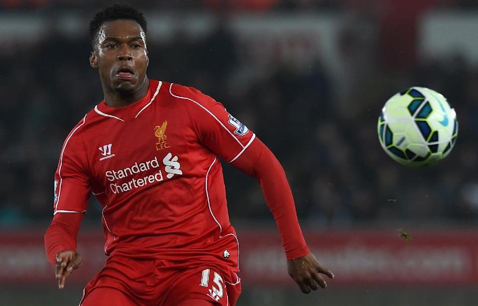 Liverpool's English striker Daniel Sturridge controls the ball during the English Premier League football match between Swansea City and Liverpool at the Liberty Stadium in Swansea, south Wales on March 16, 2015 (AFP Photo/Paul Ellis)