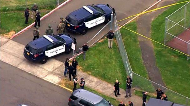 PHOTO: Officers responded to a call regarding a man armed with a gun near Parkrose High School, Portland, Ore. (KATU)