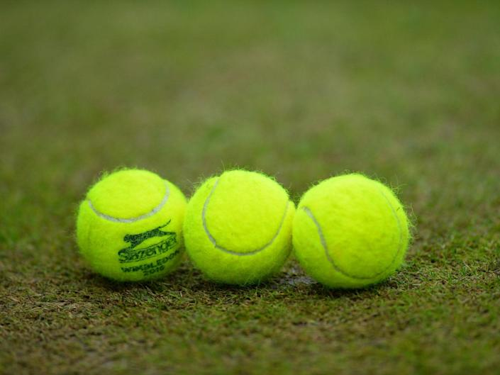 Tennis is not allowed to be played during the coronavirus lockdown: AFP via Getty
