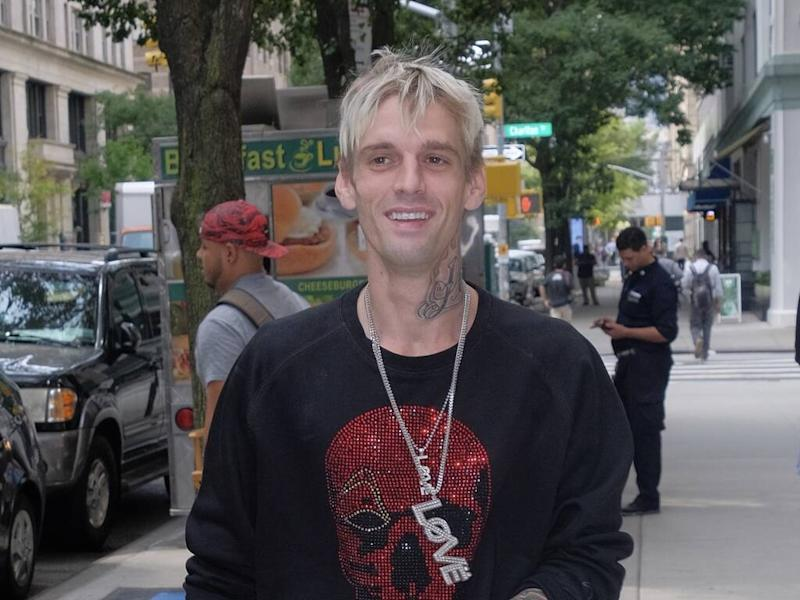 Aaron Carter visited by cops following false overdose report