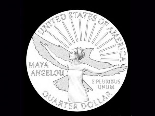 PHOTO: A sample of the new quarter coming out in 2022 that on the tail side will show images of poet Maya Angelou. (U.S. Mint)