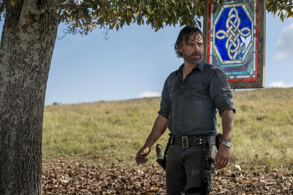Andrew Lincoln enters his last days as the star of <em>The Walking Dead</em>. (Photo: Gene Page/AMC)
