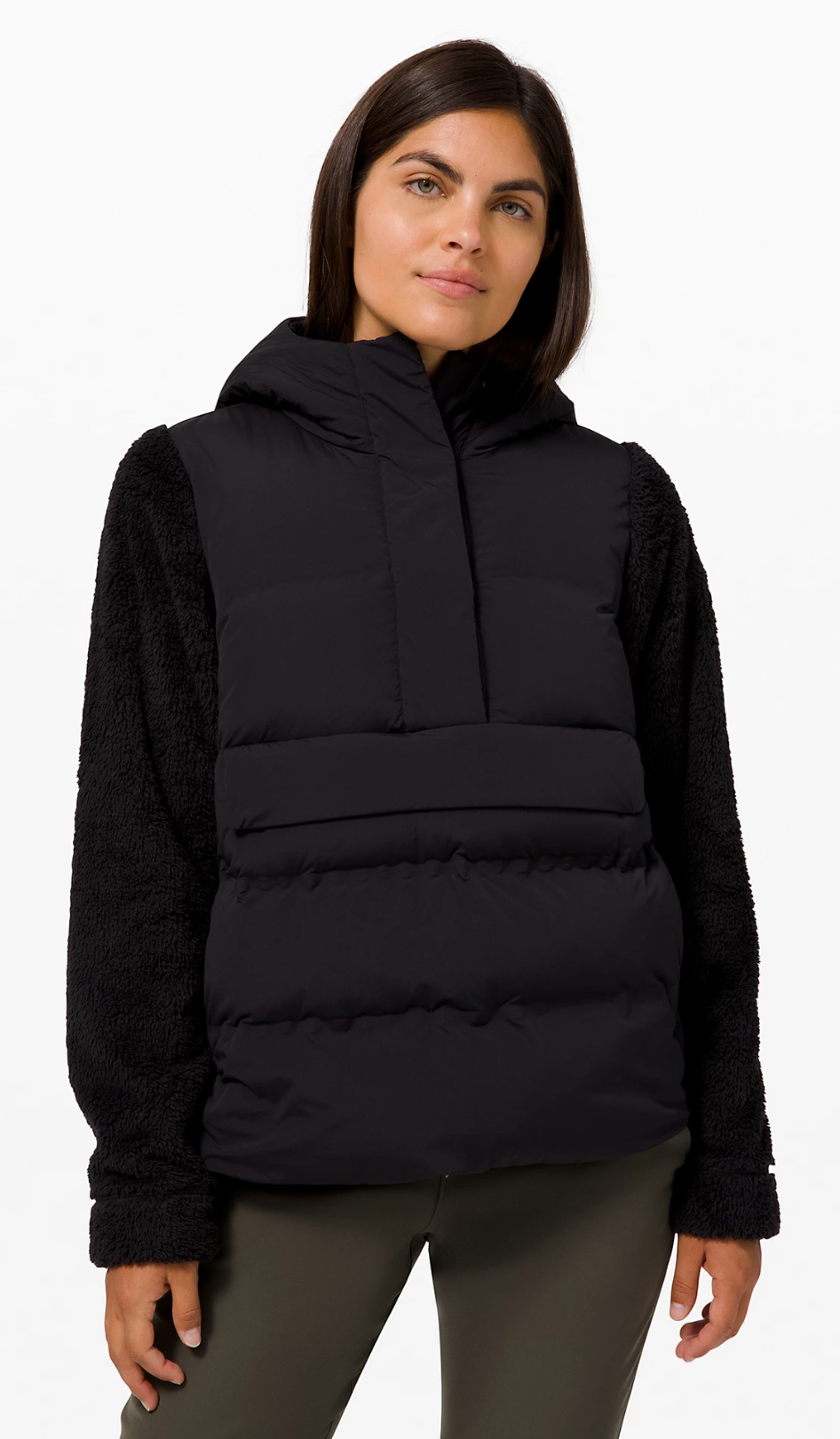 Cozy Climate Pullover in Black (Photo via Lululemon Athletica)