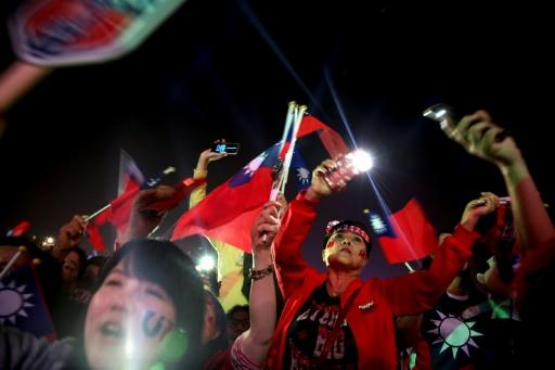The KMT party used to be communist China's arch foe but have since warmed to Beijing