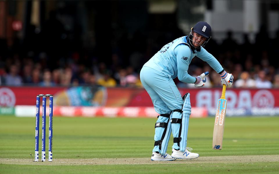 Roy is caught behind by New Zealand's Tom Latham, bowled by Matt Henry. (Photo by Nick Potts/PA Images via Getty Images)