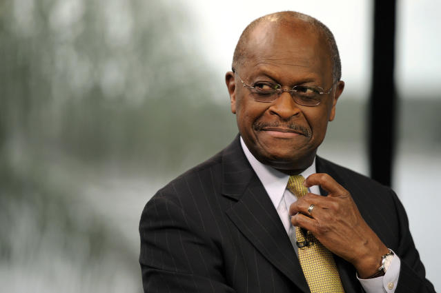 Herman Cain, the former chairman and chief executive officer of Godfather's Pizza, says allegations that President Trump is a racist are unfounded. (Photo: David Paul Morris/Bloomberg via Getty Images)