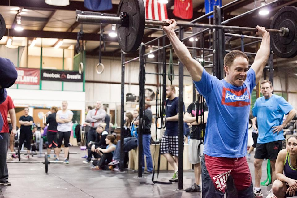 Crossfit Competitor with Weight Overhead