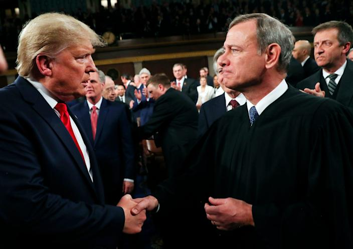 donald trump chief justice john roberts supreme court