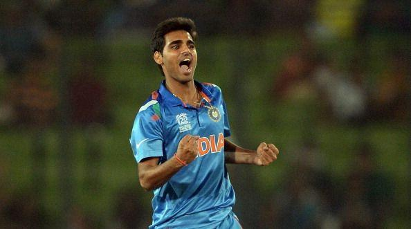 Bhuvneshwar Kumar is the second Indian to have taken a wicket with his maiden delivery in ODI cricket