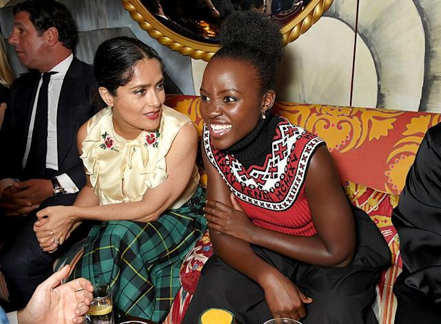 "<p>The actresses were engrossed in what must have been an interesting conversation at a London dinner Sean ""Diddy"" Combs and Naomi Campbell hosted for the doc <i>Can't Stop, Won't Stop: A Bad Boy Story</i>. (Photo: David M Benett/Dave Benett/Getty Images for Apple/Sean 'Diddy' Combs) </p>"