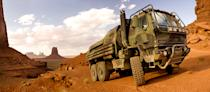 The deft and durable Hound, one of the Family of Medium Tactical Vehicles from Oshkosh Defense.