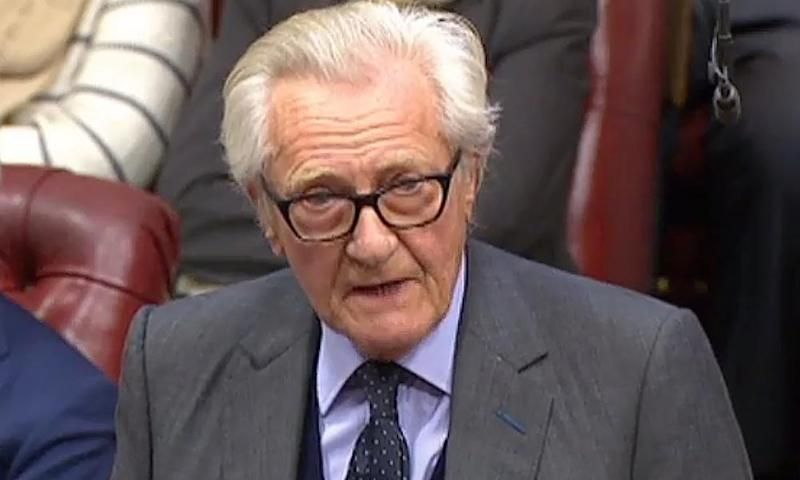 Lord Michael Heseltine speaks in the House of Lords