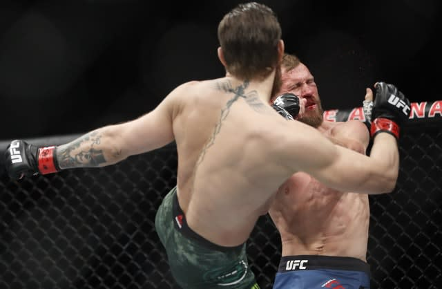 A precision head kick proved the beginning of the end for Donald Cerrone (John Locher/AP)