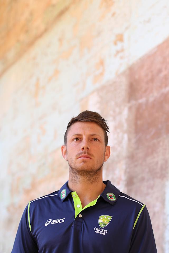 SYDNEY, AUSTRALIA - APRIL 24:  James Pattinson of the Australian cricket team poses during the 2013 Australian Ashes squad announcement at The Mint on April 24, 2013 in Sydney, Australia.  (Photo by Cameron Spencer/Getty Images)