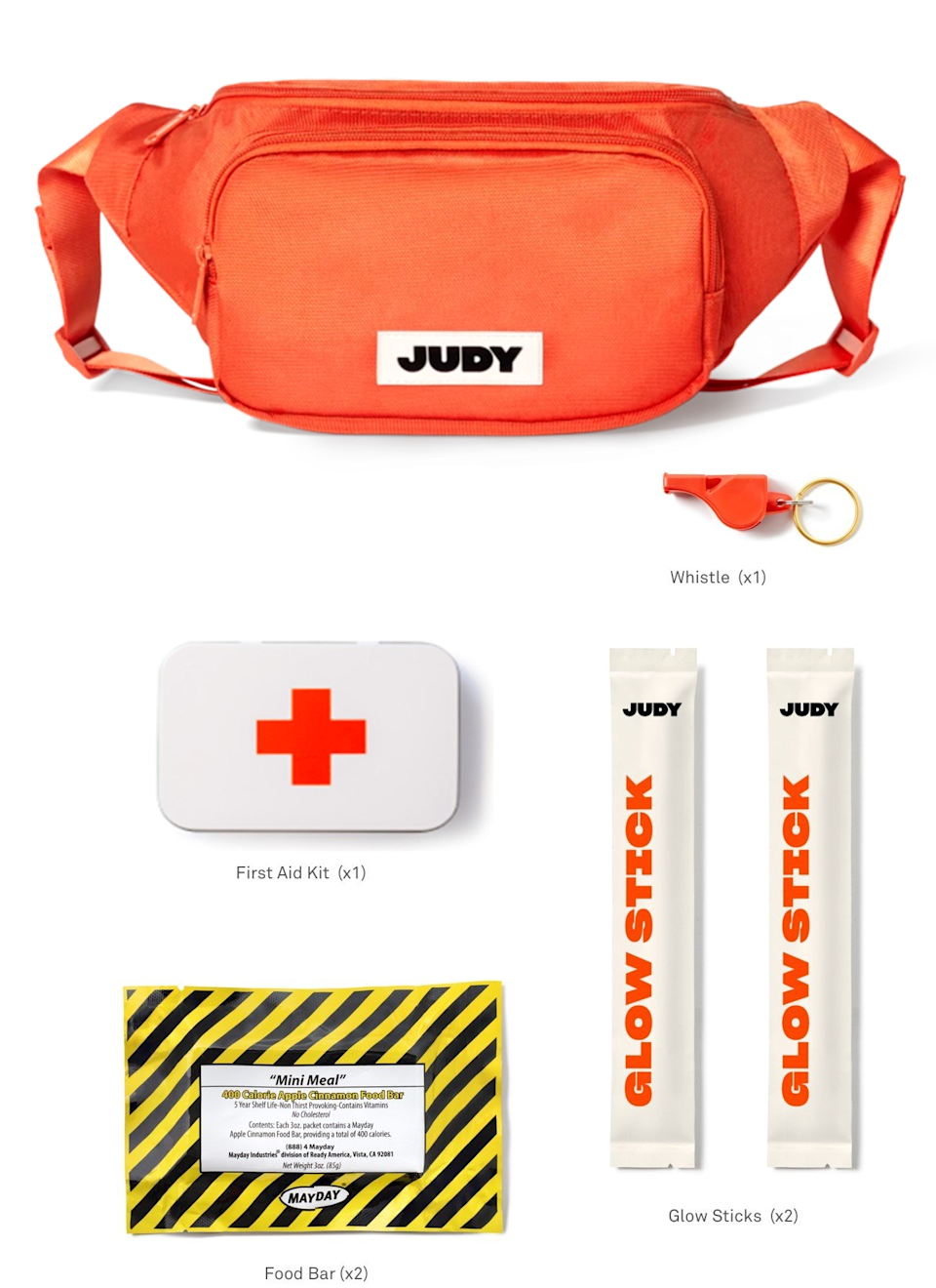"<h2>The Starter Kit</h2> OK, Safety Sallys, if you want to go the extra mile, you can also opt to add a waist pack emergency kit to strap on for any adventurous excursions away from your wheels.<br><br><br><strong>Judy</strong> The Starter Kit, $, available at <a href=""https://go.skimresources.com/?id=30283X879131&url=https%3A%2F%2Fjudy.co%2Fproducts%2Fthe-starter"" rel=""nofollow noopener"" target=""_blank"" data-ylk=""slk:Judy"" class=""link rapid-noclick-resp"">Judy</a>"