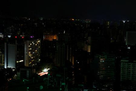 A view of the city during a blackout in Caracas, Venezuela March 27, 2019. REUTERS/Carlos Garcia Rawlins