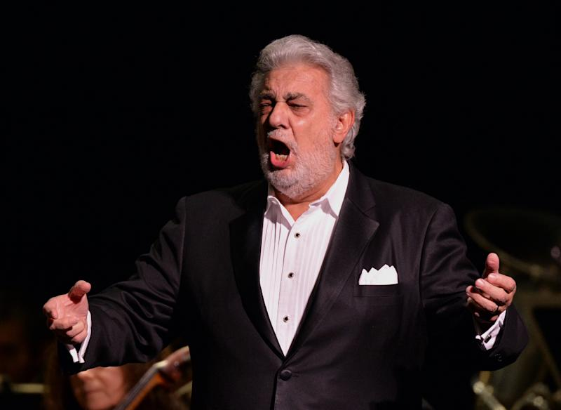 Spanish tenor Placido Domingo, pictured during the New York City Opera's '70 Years of The People's Opera' Anniversary concert, on February 21, 2014 (AFP Photo/Stan Honda)