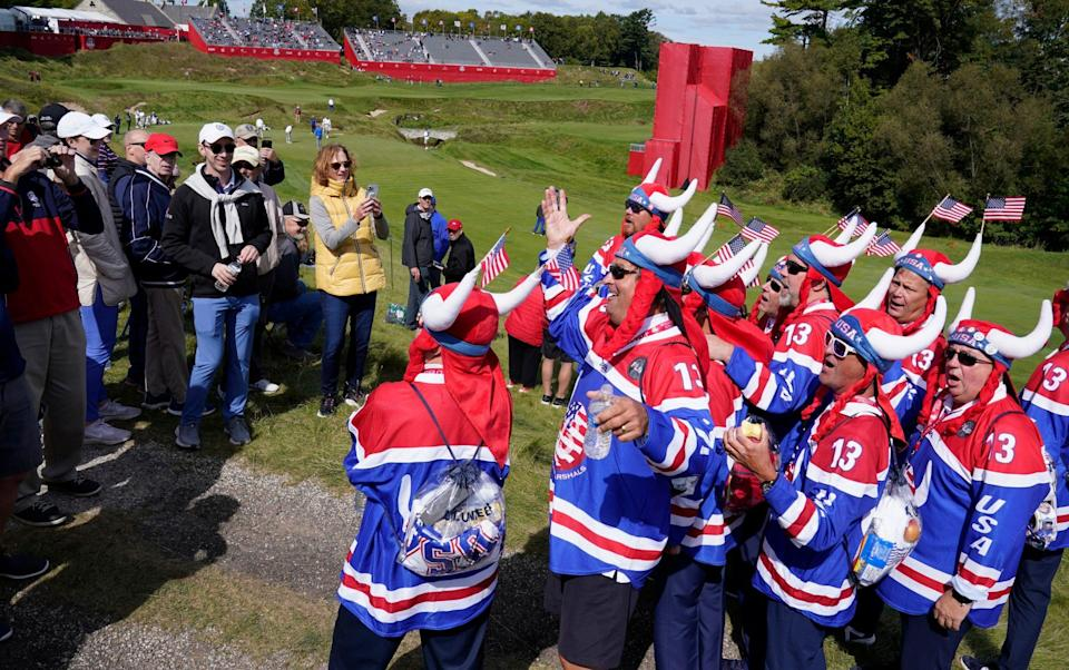 American Ryder Cup fans - AP