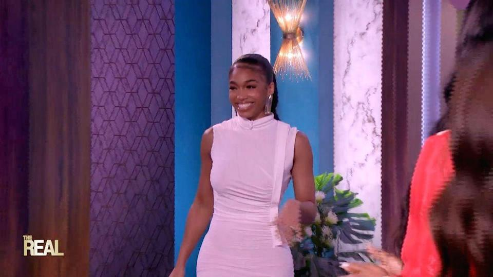 """Lori Harvey on """"The Real,"""" Sept. 20. - Credit: Courtesy of The Real"""