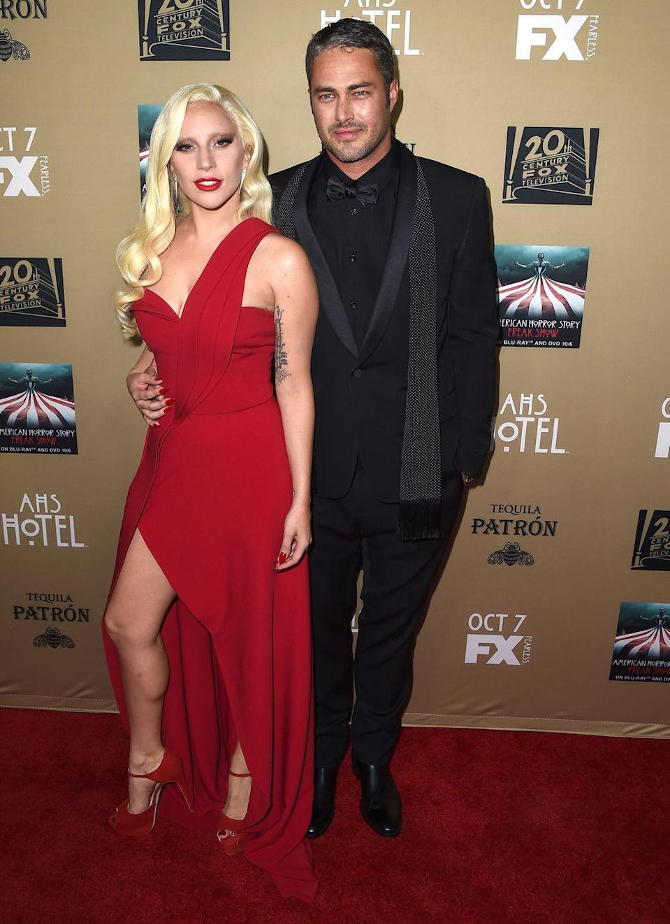"""<p>Fans were sure that the singer and Kinney would make it down the aisle when he <a href=""""http://people.com/celebrity/lady-gaga-and-taylor-kinney-split-couple-end-engagement/"""" rel=""""nofollow noopener"""" target=""""_blank"""" data-ylk=""""slk:popped the question"""" class=""""link rapid-noclick-resp"""">popped the question</a> on Valentine's Day in 2015 after four years of dating. But the former couple announced they were going their separate ways in June 2016. </p>"""