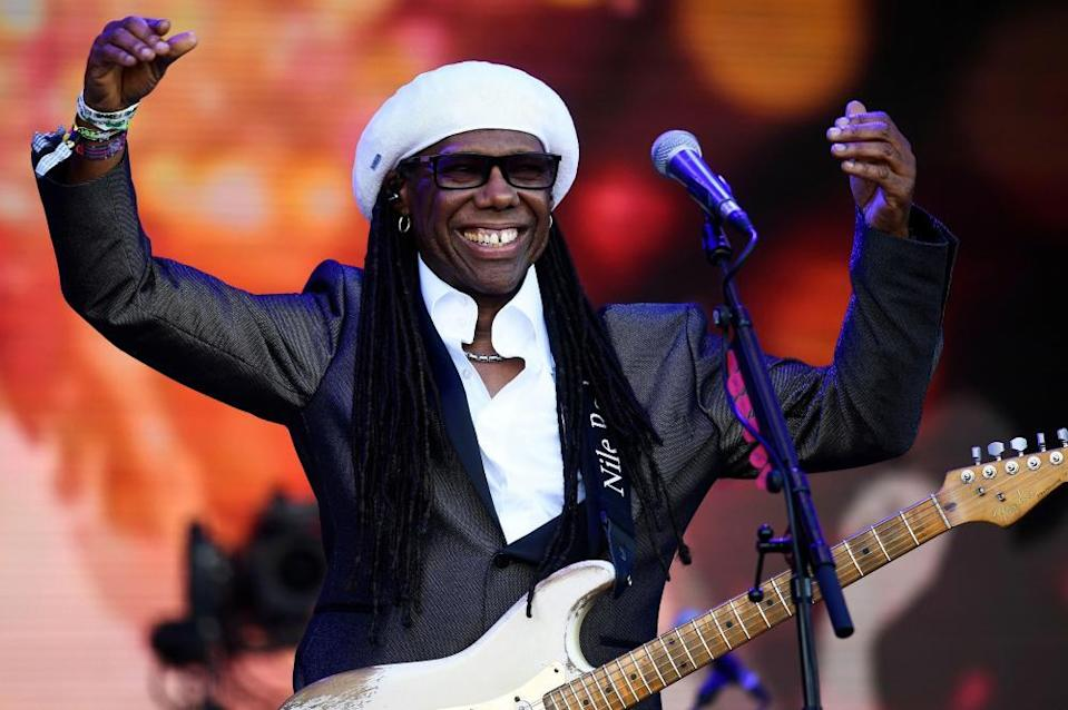 Nile Rodgers at Glastonbury festival