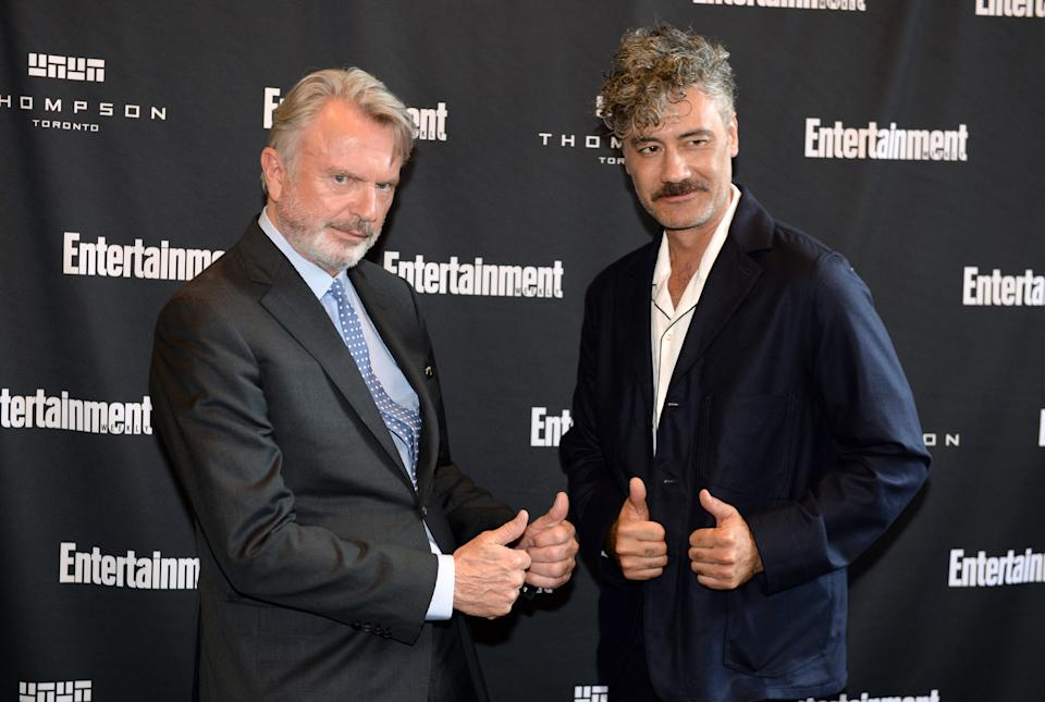 TORONTO, ONTARIO - SEPTEMBER 07: Sam Neill (L) and Taika Waititi attend Entertainment Weekly's Must List Party at the Toronto International Film Festival 2019 at the Thompson Hotel on September 07, 2019 in Toronto, Canada. (Photo by Andrew Toth/Getty Images for Entertainment Weekly)