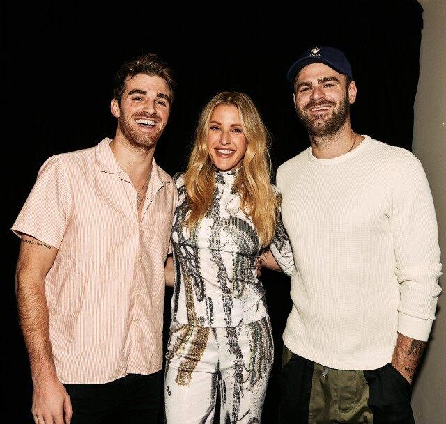 Ellie Goulding and The Chainsmokers performed at Vevo's 10th Anniversary party at Penn Plaza in NYC