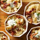 <p>You'll love this low-carb mini casserole version of loaded baked potatoes! Tangy sour cream coats chopped cauliflower and bakes with Cheddar cheese, bacon and onion in ramekins for you to enjoy your own personal comfort-food casserole.</p>