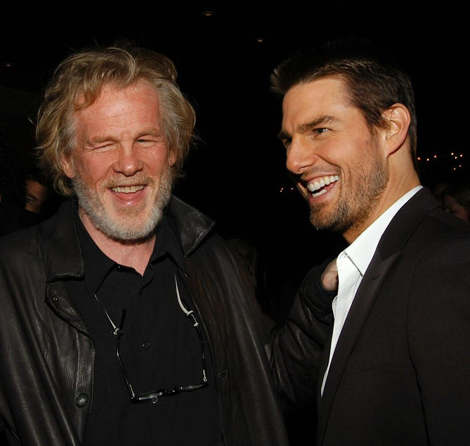 <p>HaHA! Cruise and Nick Nolte at Movieline's Breakthrough of the Year Awards on Nov. 16 2003.</p>