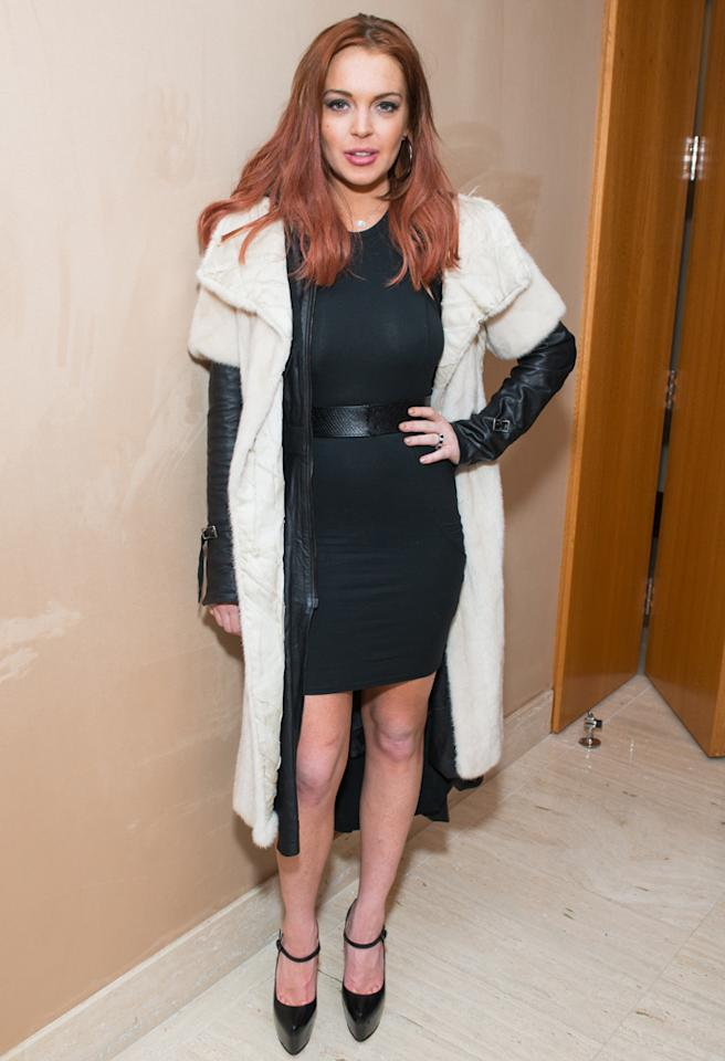 NEW YORK, NY - DECEMBER 14:  Actress Lindsay Lohan attends Lonneke Engel And Valentina Zelyaeva Organice Your Life Annual Holiday Party at Time Warner Building on December 14, 2012 in New York City.  (Photo by Michael Stewart/Getty Images)