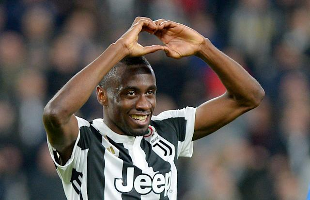 Soccer Football - Serie A - Juventus vs Atalanta - Allianz Stadium, Turin, Italy - March 14, 2018 Juventus' Blaise Matuidi celebrates scoring their second goal REUTERS/Massimo Pinca