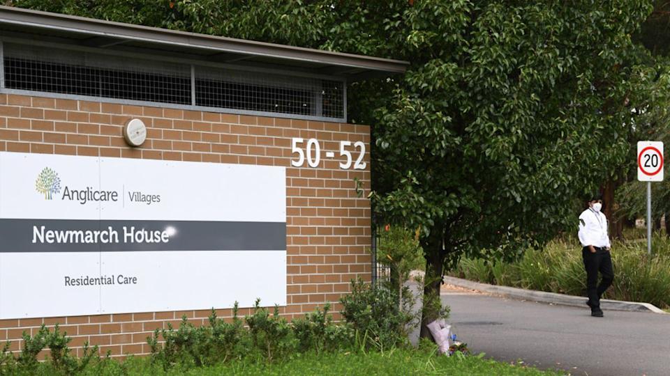 Four residents from Newmarch House have been tested for coronavirus after showing flu-like symptoms.