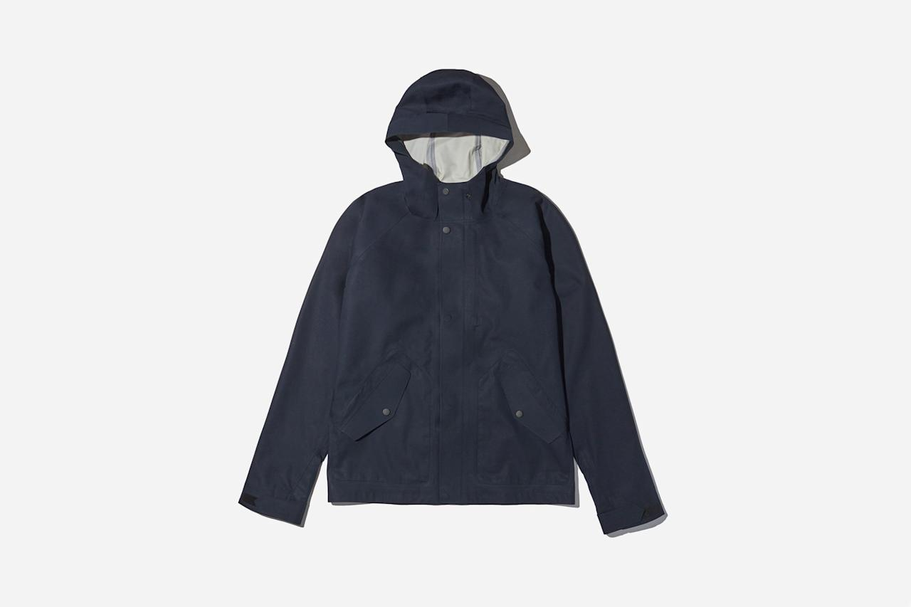 """<p>The minimalist's way to stay stylish and dry during spring's rain storms. —Max Berlinger</p><p><em>$128, buy now at <a rel=""""nofollow"""" href=""""https://www.everlane.com/products/mens-elements-jacket-navy?collection=mens-all&mbid=synd_yahoostyle"""">everlane.com</a></em></p>"""