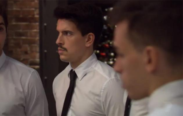 This moustache is working as a waiter while it puts itself through university.