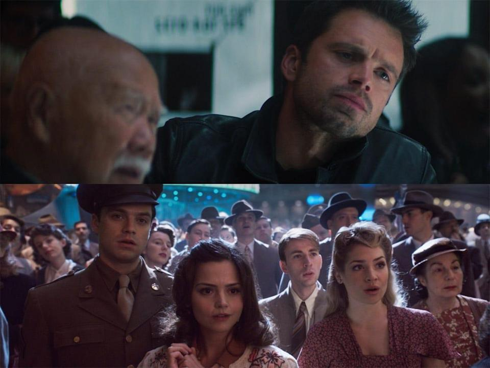 the falcon and the winter soldier bucky dancing reference