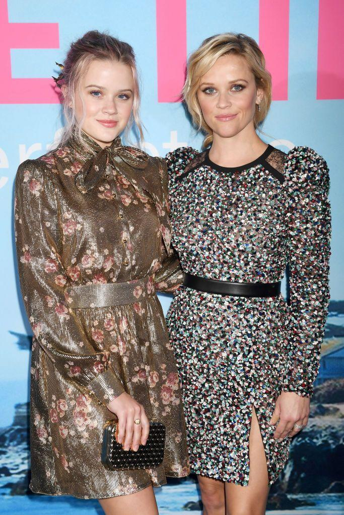 <p>Phillippe joined her mother for the premiere of the very first series of Big Little Lies with the pair taking their twinning to the next level with matching up-dos and mini dresses. </p>