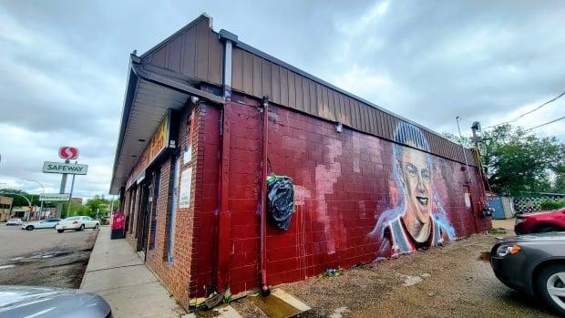 The mural of Misha Pavelick is located on the side of Brandee's Corner Store, at 3015 13th Ave. in Regina.