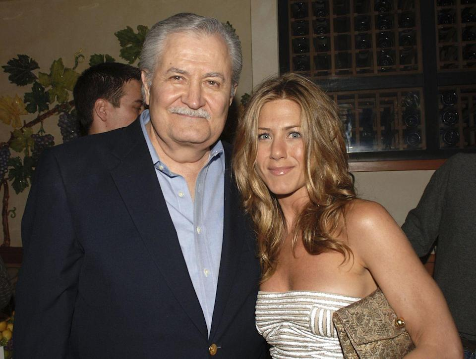"""<p><strong>Famous parent(s)</strong>: actor John Aniston<br> <strong>What it was like</strong>: """"I went to the Rudolf Steiner School in New York, and you're not allowed to watch TV,"""" she's <a href=""""http://www.nytimes.com/2008/11/24/arts/24iht-23anistont.18098787.html?mcubz=1"""" rel=""""nofollow noopener"""" target=""""_blank"""" data-ylk=""""slk:said"""" class=""""link rapid-noclick-resp"""">said</a>. <em>""""</em>But I saw my dad on <em>That Girl</em> when I was home sick one day. I wanted to tell my mom, but I had to keep it to myself.""""</p>"""