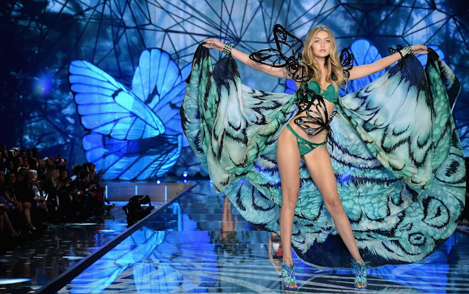 Looking like an absolute bombshell at the 2015 Victoria's Secret Fashion Show.