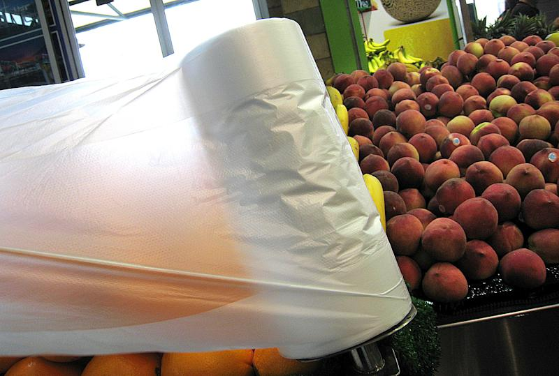There seems to be little escape from plastic in the fruit and veg section. Source: AAP