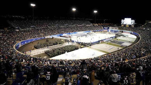 No details have been released about the man that has passed following the NHL's latest outdoor game, but the investigation is ongoing. (Photo by Mark Blinch/NHLI via Getty Images)