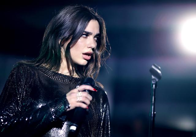 Dua Lipa performs onstage during Billboard and Mastercard present a night with Dua Lipa at the Mastercard House on Jan. 27, 2018, in New York City. (Photo: Christopher Polk/Getty Images for Mastercard)