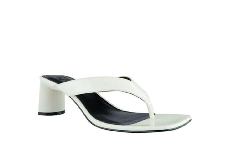 Marc Fisher LTD Cadence Shiny Leather Thong Sandals